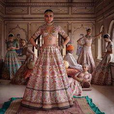 2019 Sabyasachi Charbagh Bridal Lehenga Collection - Frugal2Fab Sabyasachi Collection, Bridal Lehenga Collection, Sabyasachi Bride, Sabyasachi Lehengas, Sabyasachi Suits, Pakistani Suits, Pakistani Dresses, Ritu Kumar, Indian Bridal Wear
