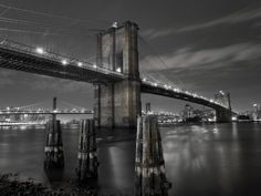New York City, Manhattan, the Brooklyn and Manhattan Bridges Spanning the East River, USA