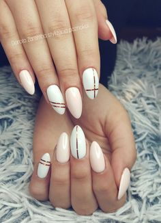 White cream nails Glamour nails, style nails, design nails
