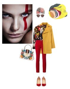 """""""Untitled #805"""" by krahmmm ❤ liked on Polyvore featuring Barbara Bui, Missoni, Marni, Gucci, Oliver Peoples and Christian Louboutin"""