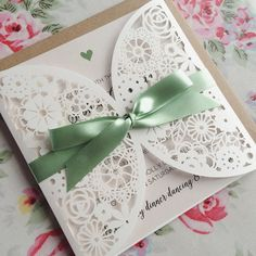 Tieing lots of green bows today! How gorgeous is this sage green satin ribbon?!  #weddingideas #weddinginvitation #weddinginspo #weddingstationery #bridebook by peachwolfe