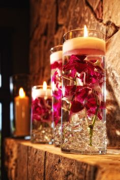 Orchid Wedding Decor Wedding Planning: Signature Weddings by Candice Photos: Derek Wintermute Photography