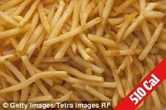 Large french fries (5.90z) - approximately 510 calories