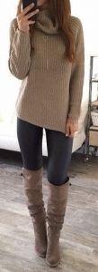 #fall #fashion / turtleneck knit + boots