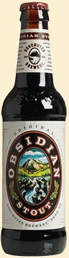"""""""Obsidian Stout is as black as the nearby volcanic flow from which it gets its name. It's a deep and satisfying experience, with distinct notes of chocolate, espresso, roasted malt and black barley. It is robust and full, with a big roasted finish."""""""