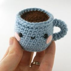 Handmade Gifts | Independent Design | Vintage Goods Mini Cup Amigurumi - i love her!