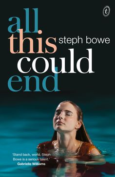 Bowe may only be 19, but she's already an accomplished writer. All This Could End is her second novel, a refreshing narrative about the Pretty family, bank robbers who are always on the run. The book opens with 17-year-old Nina holding a gun to her best friend Spencer's head. It's hard to put down from there.