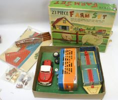 *RARE* 1950s 23 Piece Farm Set, Alps - Japan, in box (G26)