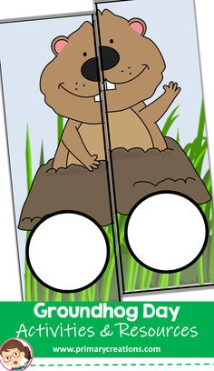 Children will match shapes with this Groundhog Preschool activity idea! Preschool 2 Year Old, Preschool Ideas, Preschool Activities, Groundhog Day Activities, 2 Year Olds, Shape Matching, Preschool Printables, Tot School, Teaching Resources