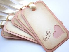 Valentine Tags - gift/favor tags - Cut out for Love Tags - Vintage Appearance - set of 5