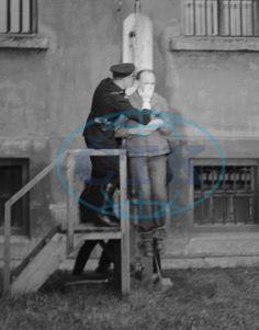 Execution of former Deputy Protector of Bohemia and Moravia Kurt Daluege in Pankrác prison. Prague, 24.10.1946.