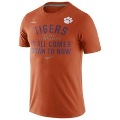 Nike Clemson Tigers Orange 2016 College Football Playoff National Championship Bound Now T-Shirt - FansEdge.com