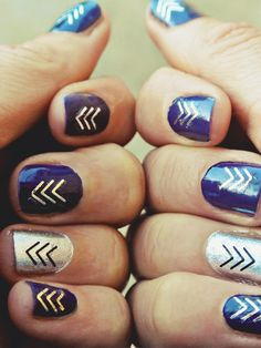 step up your manicure by adding some flash tattoos to your nails!