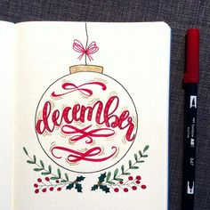 ornament bullet journal by Pretty ornament and . - - Beautiful ornament bullet journal by Pretty ornament and … -Beautiful ornament bullet journal by Pretty ornament and . - - Beautiful ornament bullet journal by Pretty ornament and … . Bullet Journal Inspo, December Bullet Journal, Bullet Journal Cover Page, Bullet Journal Themes, Bullet Journal Spread, Bullet Journal Layout, Journal Covers, Journal Pages, Bellet Journal