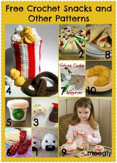Links for free Food Patterns!  Play with Your Food: 40 Free Amigurumi Patterns to Crochet Today!