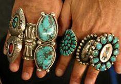 Huge Navajo turquoise rings