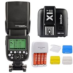 Godox TT685S GN60 18000s HSS TTL Flash Speedlite  24G X1TS Trigger Transmitter for Sony DSLR A7 A7R A7S A7 II A7R II A7S II A6300 A6000 Camera  Mcoplus 3pcs Diffuser and AA Battery Kit >>> Click image to review more details.