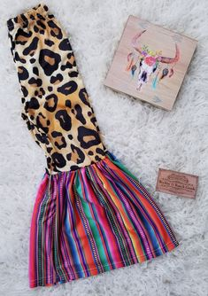 Leopard Serape Bell Bottoms Rockin' G Ranch Goods Western Babies, Baby Leopard, Mexican Outfit, Kids Clothing Brands, Baby Boutique, Girls Boutique, Baby Doll Clothes, Diy For Girls, Bell Bottoms