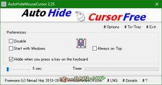 AutoHideMouseCursor 2.25   AutoHideMouseCursor--起動時の画面--オールフリーソフト