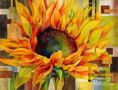 Sunflower Painting - Sunflower Canopy by Hailey E Herrera