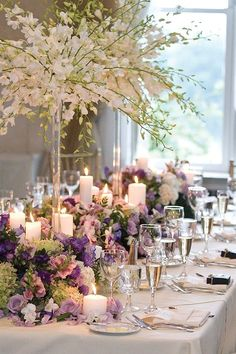 I'm liking the lower flowers on this table-green and purple texture