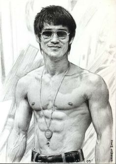 Poster - Pencil Sketch Of Bruce Lee (Mixed Martial Arts Ufc Mma Fighter) Bruce Lee Body, Bruce Lee Art, Bruce Lee Martial Arts, Mixed Martial Arts, Bruce Lee Frases, Bruce Lee Quotes, Bruce Lee Workout, Bruce Lee Pictures, Jeet Kune Do