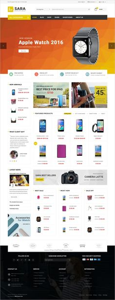 Sara is a fast and effective #WordPress theme for multipurpose #gadgets #eCommerce website with 8 stunning homepage layouts download now➯ https://themeforest.net/item/sara-woocommerce-wordpress-market-theme/16572433?ref=Datasata