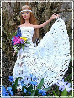 barbie crochet wedding dresses barbie-hanneton 46...1..3 qw