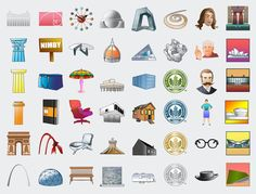 Exclusive: 48 new architecture emoji, for texting with your fellow design geek friends. Denise Scott Brown, Type Design, Graphic Design, Boston City Hall, Bridge Drawing, Concrete Building, English Dictionaries, Tears Of Joy, Zaha Hadid