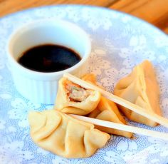 GF Potstickers with Pineapple-Chili Dipping Sauce