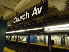 Church Avenue station sign