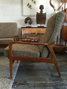 don rex recliner tv arm chair c 1960s designsmith complete