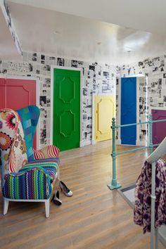Le 1er étage, véritable labyrinthe d'Alice au Pays des Merveilles - Marie Claire Maison