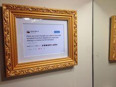 My friend framed a Kanye West tweet in his bathroom: funny