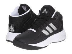 adidas Kids Cloudfoam Ilation Basketball (Little Kid/Big Kid) Boys Shoes Core Black/Matte Silver/White