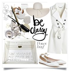 """Be Classy"" by sabrina-0803 ❤ liked on Polyvore featuring Hermès, White House Black Market and Nine West"