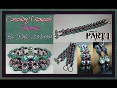 (Tutorial) Cascading Diamonds Bracelet DIY (Video 178) PART 1 - YouTube