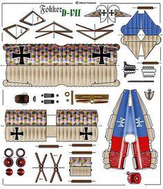 H von Hippel, commander of Jasta 71 Paper Airplane Models, Model Airplanes, Paper Models, Paper Planes, Cardboard Toys, Paper Toys, 3d Paper, Paper Crafts, Origami