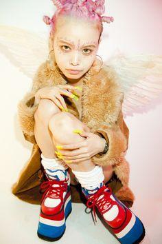 Eriko Nakao, Buffalo platform sneakers, Spice Girl, 90s
