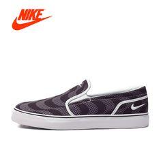 Original NIKE Toki Slip Women's Light Comfortable Breathable Skateboarding Shoes Sneakers