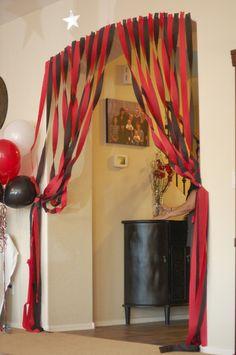 Black Crepe Paper Streamer Party Decorations Total, 3 Pack) On Sale Now! Streamer Party Decorations, Dinner Party Decorations, Party Themes, Party Ideas, Streamer Ideas, High School Musical, School Reunion Decorations, Graduation Decorations, Graduation Ideas