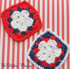 Crochet Star Granny Square Motif By The Stitchin' Mommy - Free Crochet Pattern - (ravelry)