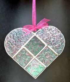 Stained+Glass+Heart+Suncatcher+D+by+bitsandglassart+on+Etsy,+$18.50