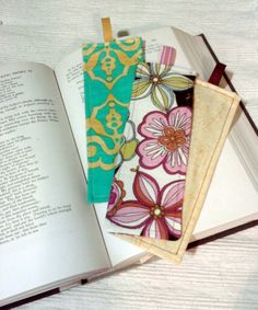 Fabric Bookmarks (Set of 3) - Canary