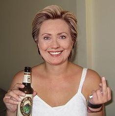 Hillary Clinton | Photoshopped, but SOOO cute!