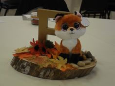 Woodland baby animal fox centerpiece