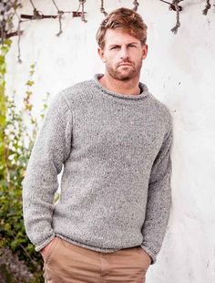 Roll Neck Sweater - Fisherman Sweater - Silver                                                                                                                                                                                 More