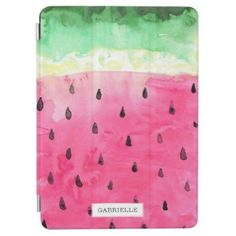 Watermelon iPad Pro Cover - gift for her idea diy special unique Funda Ipad Air, Watermelon Background, Pink Fruit, Cover Style, Tropical Design, Apple Ipad, Ipad Pro, Ipad Mini, Customized Gifts