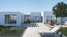 San Miguel de Salinas by ÁBATON I like the sense of enclosure the wings give--yet the pool totally opens up to the vista. Minimal Architecture, Residential Architecture, Interior Architecture, Design Exterior, Facade House, Modern Design, Contemporary Design, Design Art, House Plans