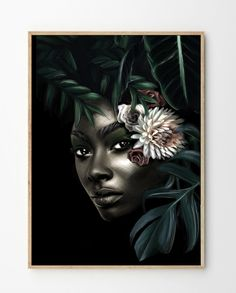 Luna is a limited edition art print, created by Norwegian artist Linn Wold. Hand-signed and numbered. Digital Drawing Pen, Black Women Art, People Art, Chalk Art, Portrait Art, Les Oeuvres, Mid-century Modern, Photo Art, Art Prints